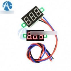 3 vezetékek 0.36 € DC 0-30V LED panel feszültségmérő 3-digitális kijelző Voltmérő piros