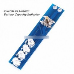 4 Soros lítium akkumulátor kapacitásjelző LED 4db 4S akkumulátor lítium-ionhoz