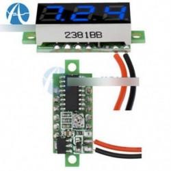 """Kék 0,28 """"2 vezetékes Mini DC digitális panel feszültségmérő panel feszültség"""