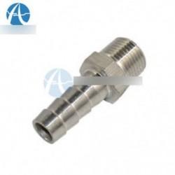 """Rozsdamentes acél 1/4 """"-es menetes csőszerelvény x 8 mm-es rúdcső csatlakozó"""
