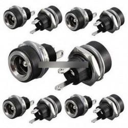 10db Mini DC tápegység csatlakozó aljzat női panel csatlakozó 5.5x2.1 mm AL