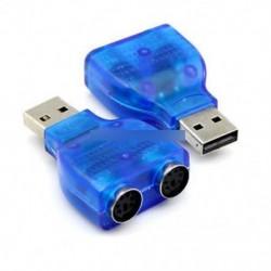 Új USB férfi és kettős PS2 PS / 2 női egér billentyűzet Splitter átalakító adapter