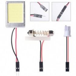 1 készlet fehér 24 LED COB Dome fény panel belső izzó T10 Festoon 12V olvasás