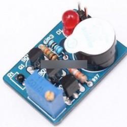 Elektronikus hőmérsékletszabályozó DIY készlet Hangjelző Riasztó Suite DC 3 ~ 5V készlet