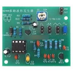 Többcsatornás NE555 hullámforma generátor modul szinusz háromszög négyzethullámú DIY készlet