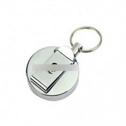 Visszahúzható fémkártya jelvénytartó acél visszahúzó gyűrű húzza meg a szíj csipesz kulcs lánc