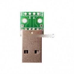 10db USB-DIP adapter-átalakító 4 db 2,54 mm-es PCB kártya tápegységhez