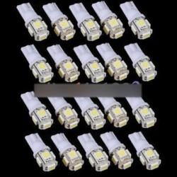 10db T10 5050 W5W 5 SMD 194 168 LED fehér autó oldalsó nyél hátsó lámpa 12X30m