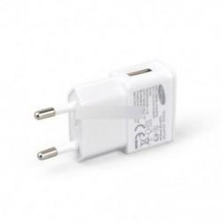 Fehér 5V 2A USB EU dugó 1 Port fali töltő Gyors töltésű tápegység adapter