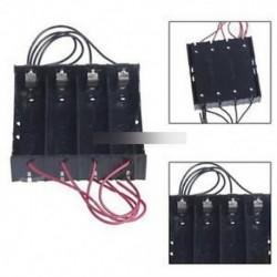 Műanyag akkumulátor tartó tároló doboz 4x18650 újratölthető akkumulátorhoz