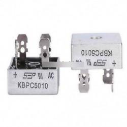 2db 50A 1000V fémdoboz egyfázisú dióda híd egyenirányítója KBPC5010