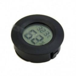 Digitális szivar-nedvességmérő hőmérő kerek fekete arc