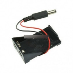 9 V-os akkumulátor dobozban (2db) - 9V DC T típusú akkumulátor csatlakozó tartó doboz doboz huzal dugasz 5.5 * 2.1mm