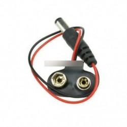 9 V-os akkumulátor csatlakozó (5 db) - 9V DC T típusú akkumulátor csatlakozó tartó doboz doboz huzal dugasz 5.5 * 2.1mm
