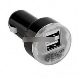 Fekete (nincs kijelző) - 4 In 1 Dual USB autós töltő adapter feszültség DC 5V 3.1A tesztelő iPhone Tablet