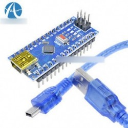 10PCS CH340 USB Nano V3.0 ATmega328P 5V 16M mikrokontroller kártya Arduino   kábel