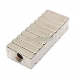 5PCS 20x10x5mm szuper erős neodímium blokk Magnete lyuk ritka föld N50 fokozat