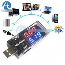 USB töltő doktor áram feszültség töltő érzékelő akkumulátor feszültségmérő