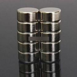 Új 10PCS 10 x 5mm erős, kerek henger ritkaföldfém neodímium mágnesek N52