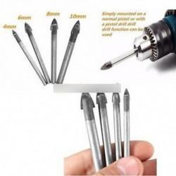 4PCS szerszámok Kerámia csempe üveg és tükör fúrókészlet 4mm 6mm 8mm 10 mm-es bit