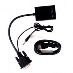 Új VGA  HDMI aljzat  adapter kábel audio interfésszel