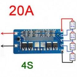 4S 20A Li-ion lítium 18650 akkumulátor BMS védelem PCB kártya 14,8V 16,8V cellás