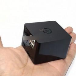 Fekete ABS műanyag Shell hűtőburkolat Orange Pi Zero bővítőkártyához