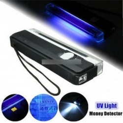 4W Mini hordozható UV ultraibolya fény fekete lámpa fáklya BANK MEGJEGYZÉSEK Ellenőrizze az AL-t