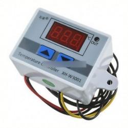 220 V fehér - 12V / 24V / 220V digitális LED hőmérséklet szabályozó termosztát vezérlő kapcsoló szonda