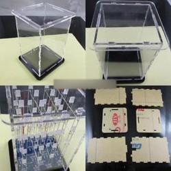 Elektronikus készletek 4x4x4 Kék 3D LED Cube Arduino uno pajzshoz LED DIY   tok