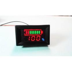 12V-os digitális LED-sav-ólom akkumulátorok jelző akkumulátor-kapacitásmérő Voltmérő