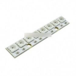 5PCS WS 2812 WS 2811 5050 RGB LED lámpa panel modul 5V 8 bites szivárvány LED pontos