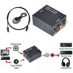 Digitális-analóg Audio átalakító - optikai kábellel 3,5 mm