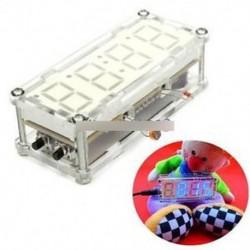 DIY Kit kék LED elektronikus óra mikrokontroller digitális óra idő hőmérő