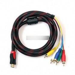 HDMI férfi és 5-RCA audió videó AV komponens kábel átalakító adapter HDTV