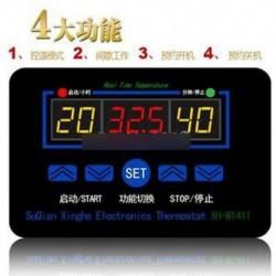 XH-W1411 10A AC 220V LED digitális hőmérséklet-szabályozó termosztát vezérlő