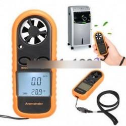 Mini LCD szélsebességmérő légáramlásmérő Digitális Anemométer NTC hőmérő
