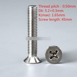 100PCS DIN965 M3 45mm lapos fejű gép csavarok a legmagasabb minőség