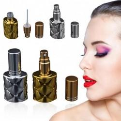 2PCS 10ML Hordozható Arany Ezüst UV Üvegpalack Parfümolaj Spray Kozmetikai Üres Palack Ajándék