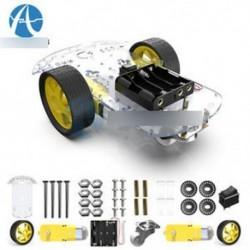 2WD Smart Robot autós alvázkészlet / sebességmérő Akkumulátor doboz Arduino 2 motor 1:48