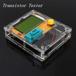 Tiszta LCR-T4 tranzisztor tesztelő dióda Triode kapacitás LCR ESR mérő modul