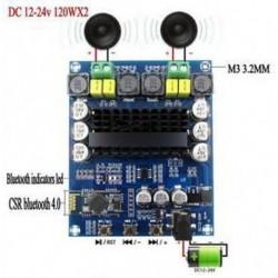TPA3116D2 sztereó erősítő modul Bluetooth 4.0 csatlakozással - 2x120W