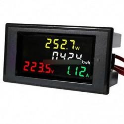 AC 200-450V LCD digitális feszültségmérő Ampermérő Volt Amp teljesítmény Kwh panel mérő 100A CT