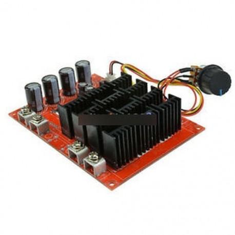 60A motor fordulatszám - 10 ~ 50V 60A 3000W 15KHz egyenáramú motor fordulatszám-szabályozó PWM HHO RC vezérlő tokkal