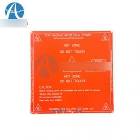 2PCS RepRap 3D nyomtató PCB Melegített MK2B hőágyas lemez Prusa Mendel 12V 24V