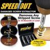 4 db-os törött csavar eltávolító javító fúrófej könnyen eltávolítható