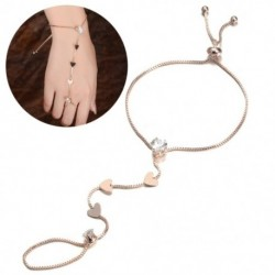 Szív Vintage ötvözetből készült retro V alakú ujjgyűrű karkötő hám összekötő lánc zsidó