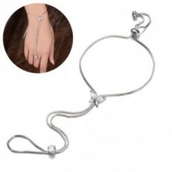 vintage ötvözetből készült retro Valakú ujjgyűrű karkötőkábelköteg összekötő lánc zsidó