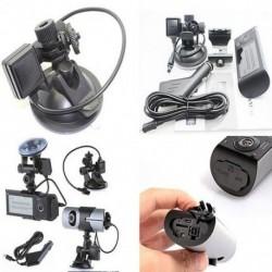 2,7 hüvelykes kettős lencsés autós DVR Full HD 1080P Dash Cam kamera Videofelvevő Gérzékelő Éjjellátó kép R300