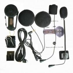 6 Rider Plus BT motorkerékpárkaputelefon 1200 mes fülhallgató Bluetooth telefonos sisak LCD FM